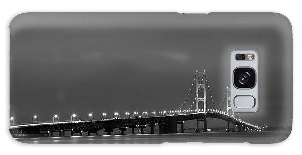 Mackinac Bridge Black And White Galaxy Case