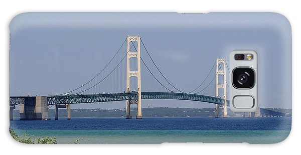 Mackinac Bridge Blue Galaxy Case
