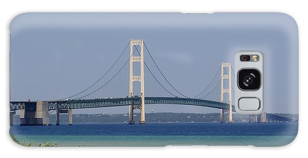 Mackinac Bridge Blue Galaxy Case