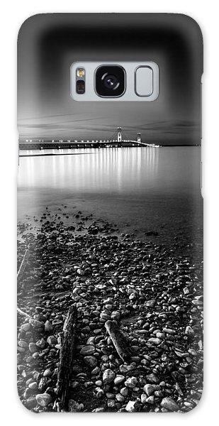 Mackinac Bridge Bw Galaxy Case by Larry Carr