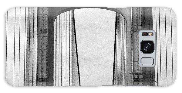 Mackinac Bridge Detail 2 Bw Galaxy Case by Mary Bedy