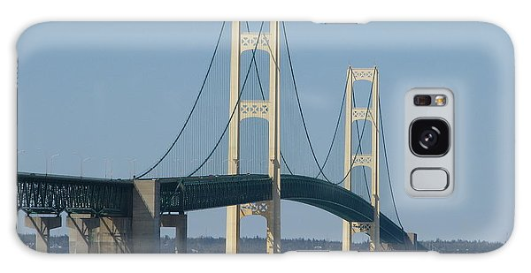 Mackinac Bridge In Winter Galaxy Case