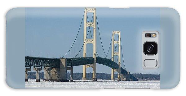 Mackinac Bridge In Winter Galaxy Case