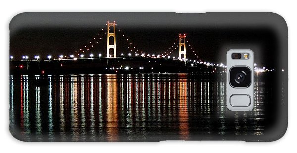 Mackinac Bridge Lights Galaxy Case