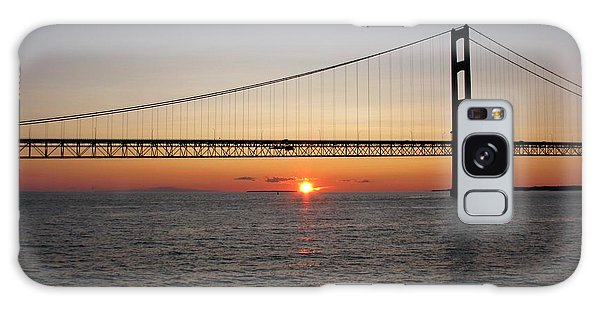 Mackinac Bridge Sunset Galaxy Case
