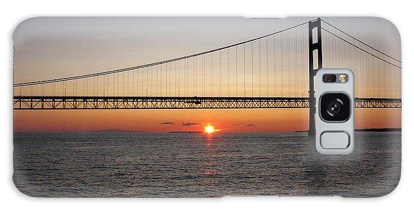 Mackinac Bridge Sunset Galaxy Case