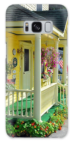 Galaxy Case featuring the photograph Mackinac Island Americana by Matthew Chapman