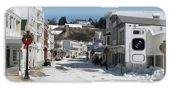 Mackinac Island In Winter Galaxy Case