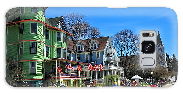 Mackinac Island Waterfront Street Galaxy Case