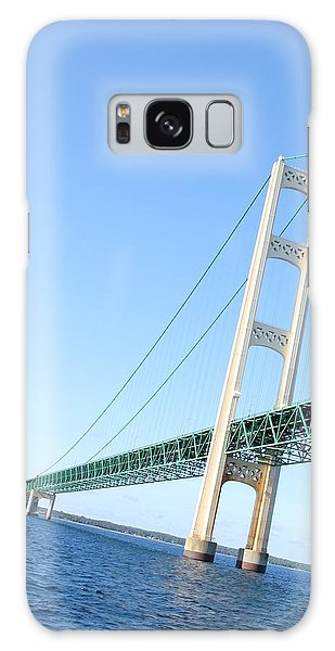 Mackinaw Bridge North Tower Galaxy Case by Bill Woodstock