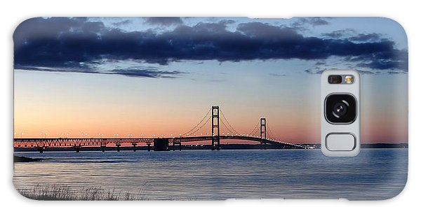 Mackinaw Bridge Twilight Galaxy Case