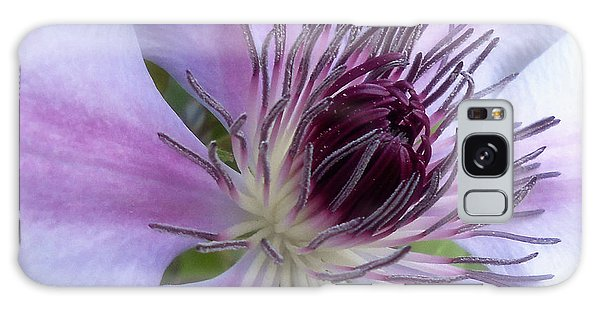 Macro Clematis Flower Galaxy Case by Eva Thomas