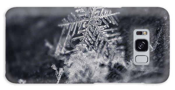 Macro Snowflake Galaxy Case