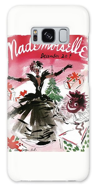 Magazine Cover Galaxy Case - Mademoiselle Cover Featuring A Doll Surrounded by Helen Jameson Hall