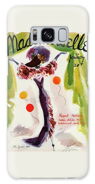 Mademoiselle Cover Featuring A Model Wearing Galaxy Case