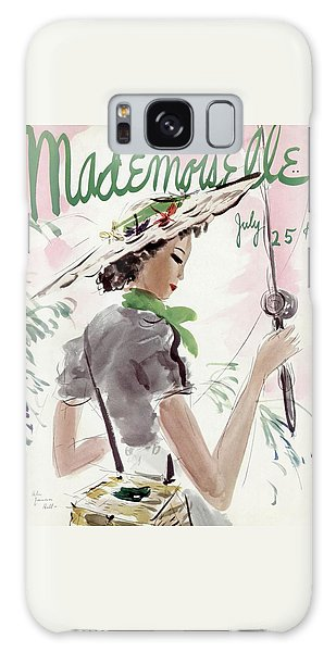 Mademoiselle Cover Featuring A Woman Holding Galaxy Case