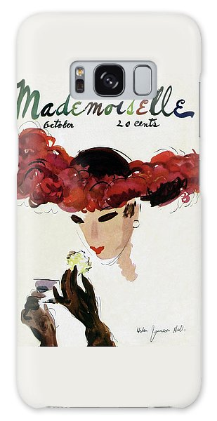 Mademoiselle Cover Featuring A Woman In A Red Galaxy S8 Case
