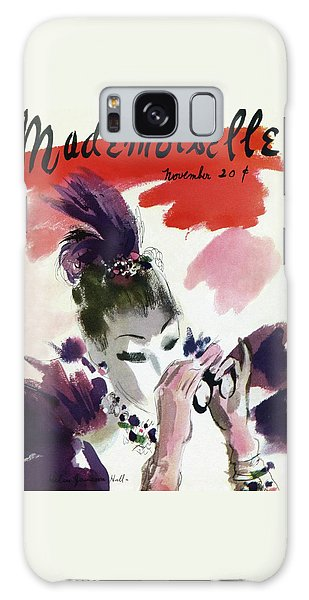 Magazine Cover Galaxy Case - Mademoiselle Cover Featuring A Woman Looking by Helen Jameson Hall
