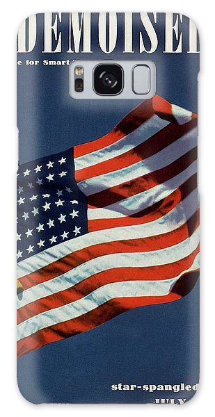 Mademoiselle Cover Featuring The U.s. Flag Galaxy Case