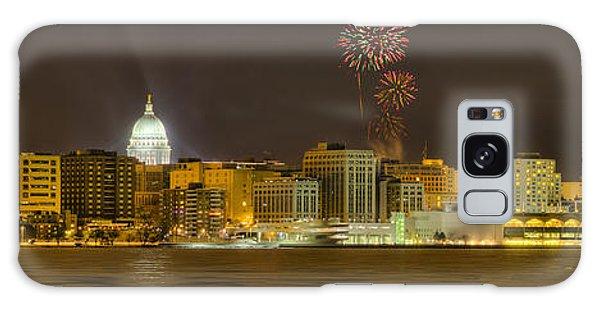 Madison Skyline New Years Eve Galaxy Case