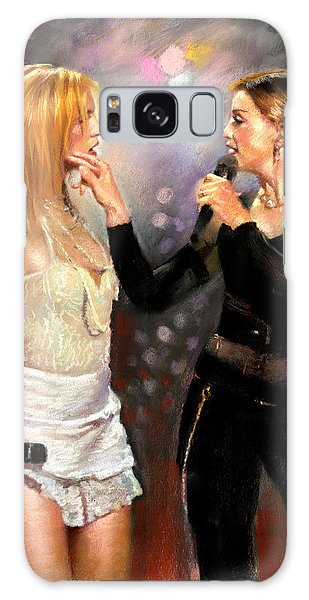 Madonna And Britney Spears  Galaxy Case by Viola El