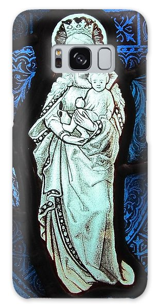 Madonna And Child Galaxy Case by Gilroy Stained Glass