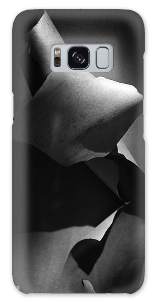 Madrona Bark Black And White Galaxy Case