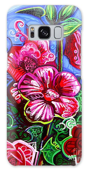 Magenta Fleur Symphonic Zoo I Galaxy Case