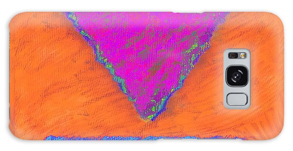 Magenta Triangle On Orange Galaxy Case