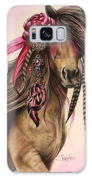 Magenta Warrior  Galaxy Case by Sheena Pike