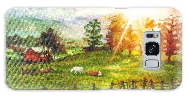 Maggie Valley Sunrise Galaxy Case by Janet McGrath