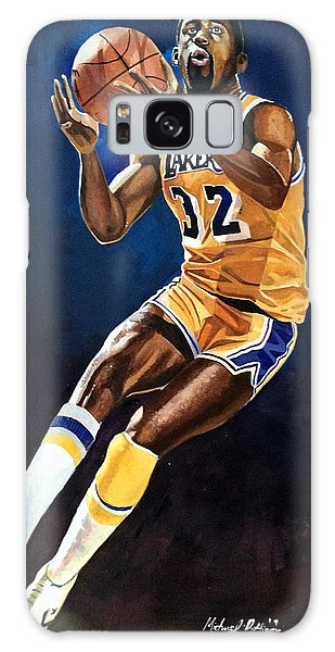 Larry Bird Galaxy S8 Case - Magic Johnson - Lakers by Michael  Pattison