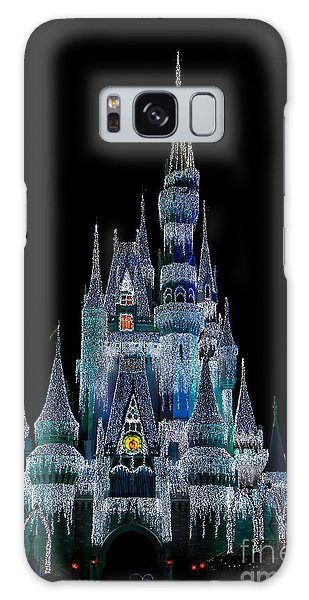 Magic Kingdom Castle Frozen Blue Frost For Christmas Galaxy Case