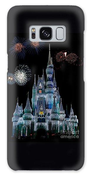 Magic Kingdom Castle Frozen Fireworks Galaxy Case