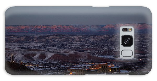 Magic Light Red Rocks With Snow Galaxy Case