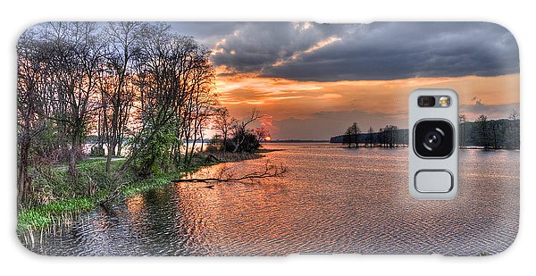 Magic Sunset Over Zegrze Lake Near Warsaw In Poland Galaxy Case