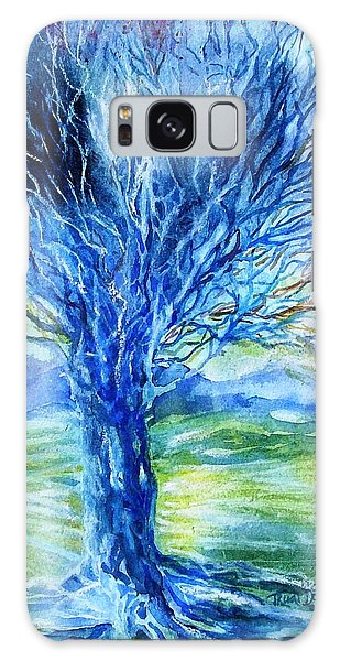 Magic Thorn Tree The Celtic Tree Of Life Galaxy Case by Trudi Doyle
