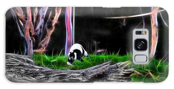 Walk In Magical Land Of The Black And White Ruffed Lemur Galaxy Case
