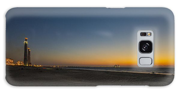 Galaxy Case featuring the photograph magical sunset moments at Caesarea  by Ron Shoshani