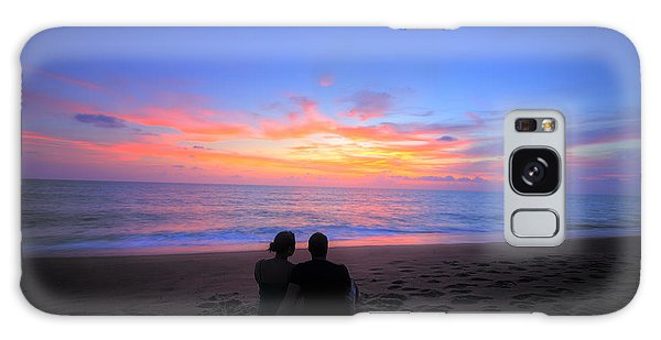 Magnificent Sunset With Couple Galaxy Case by Ed Cilley