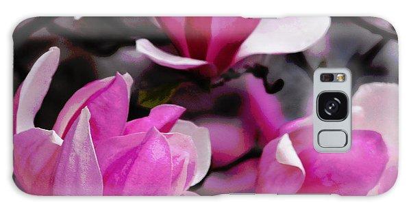 Magnolia Blossoms Galaxy Case by Olivia Hardwicke
