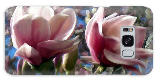Magnolia Blossoms Galaxy Case by Ric Darrell