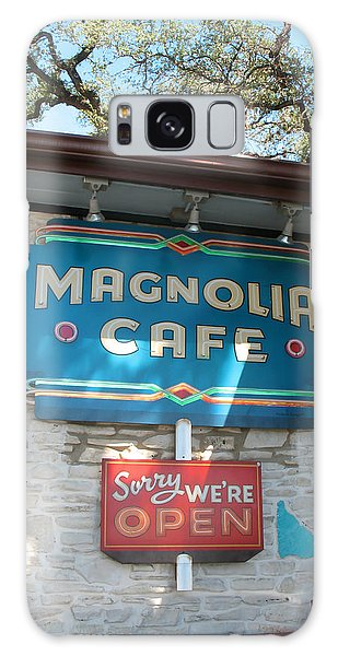 Magnolia Cafe Sign In Austin Galaxy Case by Connie Fox