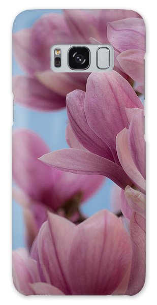 Magnolia On Blue Sky Galaxy Case