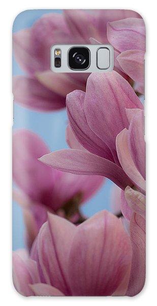 Magnolia On Blue Sky Galaxy Case by Rob Amend