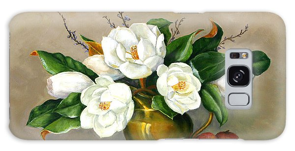 Magnolias - Southern Beauties Galaxy Case by Sandra Nardone
