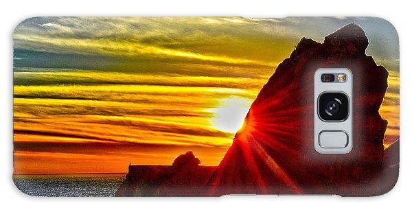 Mugu Rock Sunset Galaxy Case