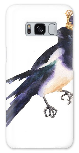 Magpie Watercolor Galaxy Case by Alison Fennell