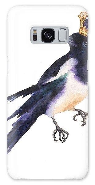 Magpie Watercolor Galaxy Case