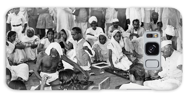 The Empire Galaxy Case - Mahatma Gandhi And Nehru by Underwood Archives